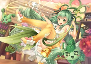 Rating: Safe Score: 29 Tags: alraune_(p&d) bell cameltoe flowers green_eyes green_hair long_hair panties puzzle_&_dragons thighhighs underwear wand yuzutosen User: RyuZU