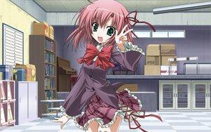 Rating: Safe Score: 52 Tags: green_eyes pink_hair sakurano_kurimu school_uniform seitokai_no_ichizon User: Yurippe
