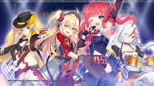 Rating: Safe Score: 51 Tags: admiral_hipper_(azur_lane) anthropomorphism aqua_eyes azur_lane bandaid bicolored_eyes blonde_hair boots cape choker compile_heart downes_(azur_lane) dress drums elbow_gloves gloves green_eyes group guitar hat hornet_(azur_lane) instrument long_hair microphone ponytail red_hair san_diego_(azur_lane) shorts skirt tagme_(artist) thighhighs tie twintails uniform white_hair wink zettai_ryouiki User: Nepcoheart