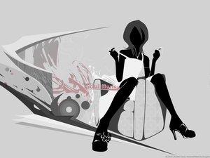 Rating: Safe Score: 58 Tags: bleach gray ipod kuchiki_rukia monochrome music silhouette User: Oyashiro-sama