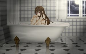 Rating: Questionable Score: 51 Tags: bath bathtub brown_hair moon night nude red_eyes vampire_knight yuuki_cross User: izuna