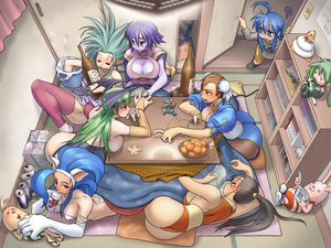 Rating: Questionable Score: 203 Tags: animal_ears ass blue_hair blush breasts brown_eyes brown_hair capcom chun-li cleavage cosine crossover darkstalkers drink felicia food green_eyes green_hair hachune_miku hakubi_ryoko izumi_konata king_of_fighters lei_lei long_hair lucky_star morrigan_aensland moyashimon pantyhose purple_hair red_eyes sake shiranui_mai street_fighter tenchi_muyo vocaloid User: HellUpLine