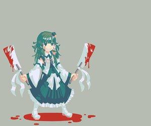 Rating: Safe Score: 31 Tags: blood green_hair japanese_clothes kochiya_sanae miko touhou zounose User: PAIIS