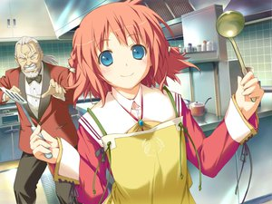 Rating: Safe Score: 6 Tags: amagahara_inaho apron happy_magarette User: 秀悟