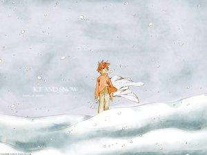 Rating: Safe Score: 5 Tags: all_male dnangel male niwa_daisuke red_hair short_hair snow white winter User: Oyashiro-sama