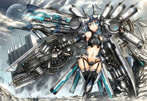 Rating: Safe Score: 261 Tags: blue_eyes blue_hair gia gun headphones mechagirl navel original short_hair signed thighhighs weapon User: SciFi