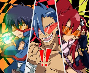 Rating: Safe Score: 61 Tags: glasses kamina parody persona persona_4 simon tengen_toppa_gurren_lagann yoko_littner User: anaraquelk2