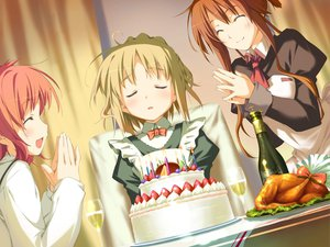 Rating: Safe Score: 3 Tags: amagahara_inaho cake food happy_magarette minahase_karin sakura_mao User: 秀悟