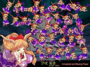 Rating: Safe Score: 5 Tags: dress horns ibuki_suika long_hair orange_hair ribbons touhou User: Oyashiro-sama
