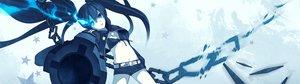 Rating: Safe Score: 101 Tags: black_hair black_rock_shooter blue_eyes chain dualscreen gun kuroi_mato twintails weapon User: meccrain