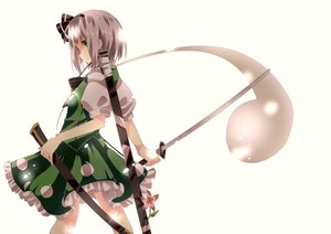 Rating: Safe Score: 141 Tags: bow dress flowers konpaku_youmu lazuli_izayoi sword touhou weapon white User: opai