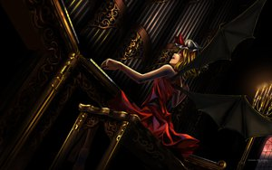 Rating: Safe Score: 133 Tags: blonde_hair flandre_scarlet instrument maisaki red_eyes touhou watermark wings User: HawthorneKitty
