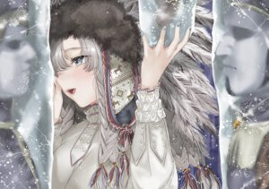 Rating: Safe Score: 43 Tags: gray_eyes gray_hair long_hair original tagme_(artist) User: luckyluna