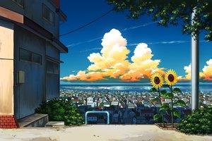 Rating: Safe Score: 72 Tags: clouds flowers landscape mizuasagi nobody original scenic sky sunflower water User: otaku_emmy