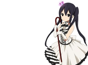 Rating: Safe Score: 114 Tags: black_hair brown_eyes crown dress gloves k-on! long_hair nakano_azusa ragho_no_erika twintails white User: C4R10Z123GT
