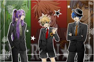 Rating: Safe Score: 13 Tags: kagamine_len kaito kamui_gakupo vocaloid User: w7382001