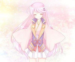 Rating: Safe Score: 41 Tags: harukanaru_toki_no_naka_de japanese_clothes kasuga_nozomi kimono pink_hair User: HawthorneKitty