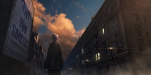 Rating: Safe Score: 31 Tags: building cape city clouds dark izna_(iznatic) original purple_hair scenic short_hair sky sunset User: otaku_emmy