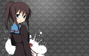 Rating: Safe Score: 70 Tags: blue_eyes blush brown_hair kyonko ponytail seifuku suzumiya_haruhi_no_yuutsu User: shojoneko