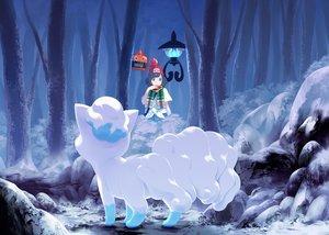 Rating: Safe Score: 34 Tags: black_hair blue_eyes chandelure forest hat mizuki_(pokemon) mk_(mikka) pokemon rotom scarf short_hair tree vulpix User: FormX