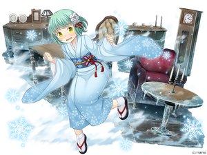 Rating: Safe Score: 20 Tags: blush demi-chan_wa_kataritai green_hair japanese_clothes kimono kusakabe_yuki_(demi-chan_wa_kataritai) monmusu_harem namaru_(summer_dandy) short_hair snow socks yellow_eyes User: otaku_emmy