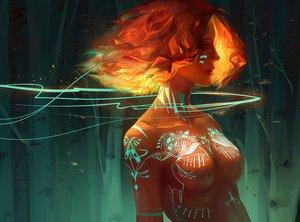 Rating: Safe Score: 237 Tags: bianzao breasts dark_skin fire nude orange_hair original short_hair tattoo User: Flandre93