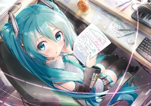 Rating: Safe Score: 52 Tags: daidou_(demitasse) hatsune_miku long_hair twintails vocaloid User: luckyluna