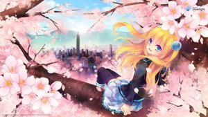 Rating: Safe Score: 170 Tags: aizawa_hikaru aqua_eyes blonde_hair boots building cherry_blossoms city clouds flowers long_hair microsoft os-tan petals school_uniform skirt sky thighhighs tree User: doreimi