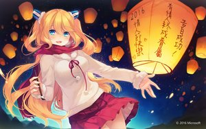 Rating: Safe Score: 117 Tags: aizawa_hikaru aqua_eyes blonde_hair blush long_hair microsoft os-tan scarf shinia skirt valentine User: Flandre93