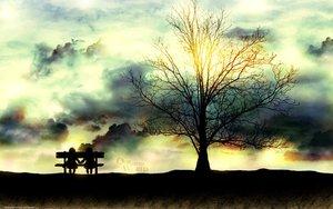Rating: Safe Score: 128 Tags: clouds ouran_koukou_host_club tree tsubame_(artist) User: birdy73