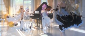 Rating: Safe Score: 28 Tags: animal anthropomorphism azur_lane bird cropped dress formidable_(azur_lane) goth-loli horse illustrious_(azur_lane) instrument lolita_fashion manjuu_(azur_lane) piano swd3e2 twintails unicorn victorious_(azur_lane) violin watermark User: BattlequeenYume