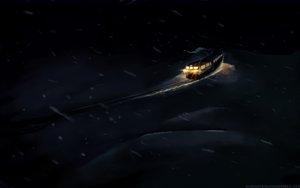 Rating: Safe Score: 39 Tags: byousoku_5_centimetre dark night nobody shinkai_makoto snow train winter User: atlantiza