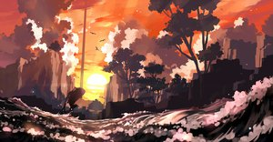 Rating: Safe Score: 89 Tags: landscape nodata okami scenic sunset User: FormX