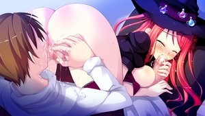 Rating: Explicit Score: 39 Tags: ass butthole cum cunnilingus fellatio game_cg hinomiya_ayari ko~cha pussy_juice red_hair stockings witch's_garden User: smootch