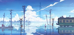 Rating: Safe Score: 62 Tags: building city clouds jing_(jiunn1985matw) original reflection scenic signed silhouette sky train water User: FormX