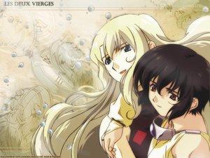 Rating: Safe Score: 5 Tags: blonde_hair blue_eyes brown_eyes brown_hair mireille_bouquet noir yuumura_kirika User: Oyashiro-sama