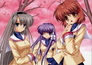 Rating: Safe Score: 18 Tags: clannad fujibayashi_kyou furukawa_nagisa hinoue_itaru long_hair sakagami_tomoyo school_uniform User: Oyashiro-sama