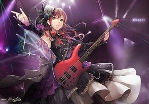 Rating: Safe Score: 66 Tags: bang_dream! bass bow dress feathers flowers hiroki_ree imai_lisa instrument long_hair orange_eyes red_hair signed User: BattlequeenYume