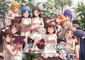 Rating: Safe Score: 57 Tags: animal apple barefoot blue_eyes blue_hair book bow brown_eyes brown_hair bubbles couch dog dress drink food fruit green_eyes group idolmaster idolmaster_million_live! knife long_hair orange_hair pink_eyes ponytail short_hair sonsoso tagme_(character) User: RyuZU