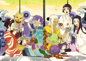 Rating: Safe Score: 21 Tags: animal bandage black_hair blonde_hair brown_eyes brown_hair cat dark_skin drink gray_hair group headdress japanese_clothes kimono male mask necklace onmyouji pointed_ears short_hair socks tagme_(artist) tagme_(character) tattoo white_hair User: otaku_emmy