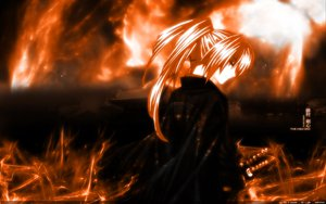 Rating: Safe Score: 17 Tags: all_male fire himura_kenshin japanese_clothes male monochrome rurouni_kenshin sword weapon User: Nocyta