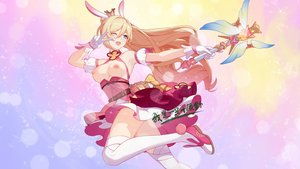 Rating: Questionable Score: 44 Tags: animal_ears bianka_durandal_ataegina blonde_hair breasts bunny_ears gradient honkai_impact kanon_12361024 long_hair nipples wand wink User: BattlequeenYume