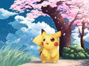 Rating: Safe Score: 73 Tags: cherry_blossoms pikachu pokemon sky User: HawthorneKitty
