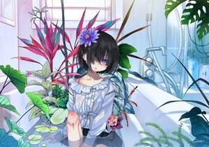 Rating: Safe Score: 35 Tags: bath bathtub blood dancho_(dancyo) flowers original signed User: FormX