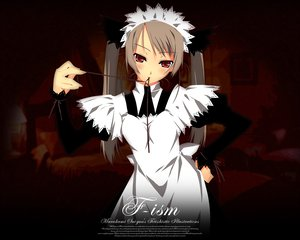 Rating: Safe Score: 19 Tags: brown_hair f-ism maid murakami_suigun red_eyes User: Oyashiro-sama