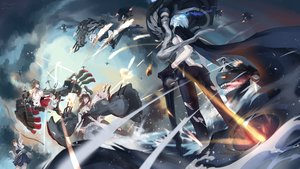 Rating: Safe Score: 71 Tags: anchorage_water_demon anthropomorphism bow_(weapon) brown_hair bzerox group haruna_(kancolle) kaga_(kancolle) kantai_collection kongou_(kancolle) ne-class_heavy_cruiser skirt thighhighs water weapon white_hair wo-class_aircraft_carrier zettai_ryouiki User: luckyluna