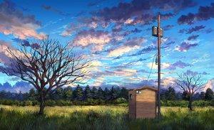 Rating: Safe Score: 60 Tags: building clouds forest grass nobody original pippi_(p3i2) scenic sky tree User: RyuZU