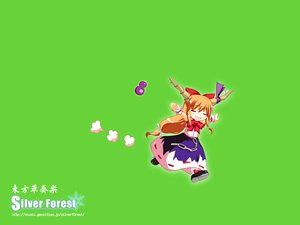 Rating: Safe Score: 9 Tags: dress green horns ibuki_suika long_hair orange_hair ribbons touhou User: WhiteExecutor