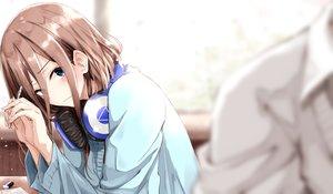 Rating: Safe Score: 59 Tags: blue_eyes brown_hair close fuu_(fuore) go-toubun_no_hanayome headphones long_hair nakano_miku User: BattlequeenYume