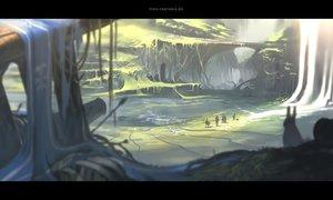 Rating: Safe Score: 93 Tags: group landscape original pixiv_fantasia scenic yuushouku User: RyuZU
